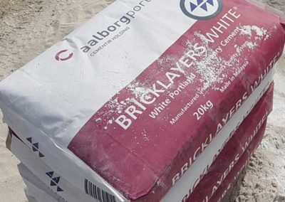 Bags of Bricklayers White Cement