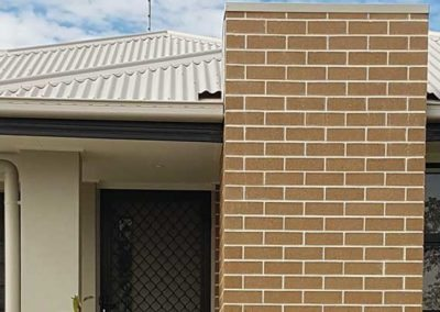 Feature wall using Bricklayers White Cement