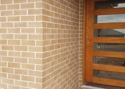 Front entrance with Bricklayers White Cement